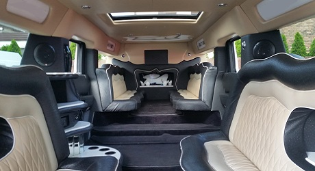 Inside the Hummer Limousine in Warsaw